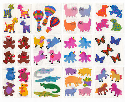 Vintage Sandylion Pearly Pearl Opal MOP Animal Unicorn Cat Stickers - You Choose