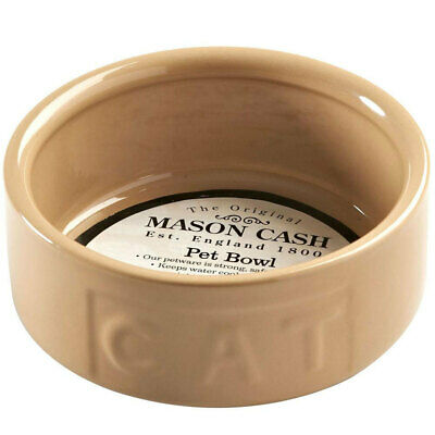 Mason Cash 13cm Pet/Cat Lettered Bowl Food Travel Portable Feeding/Drinking