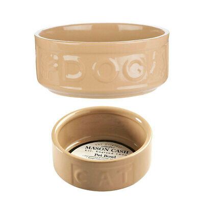 Mason Cash 2pc 18cm Dog/13cm Cat Bowl Food Travel Portable Feeding/Drinking