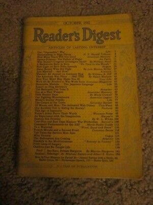 2 Vintage Readers Digest Magazines October 1942, and February 1940 NICE LOOK!!