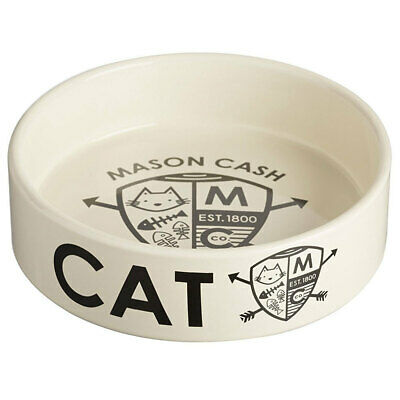 Mason Cash Coat Of Arms 14cm Cat Bowl Food Travel Portable Feeding/Drinking