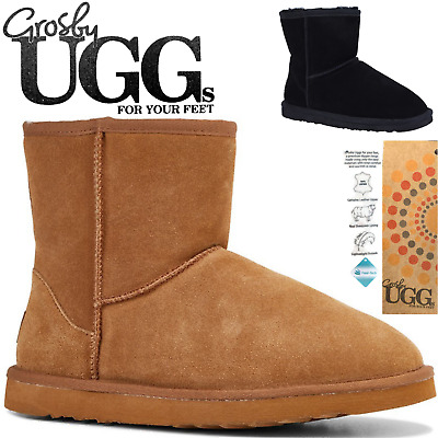 GROSBY Jackaroo Men's UGG Boots Genuine Sheepskin Suede Leather Classic - Short