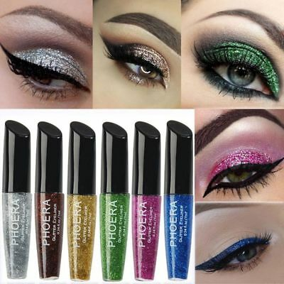 Makeup Waterproof Metallic Liquid Eyeliner Glitter Eyeshadow Shimmer