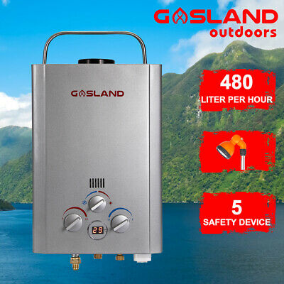MADEMSA Gas Hot Water Heater 480L/H Portable Shower Camping LPG Instant 4WD