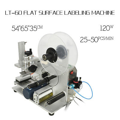 New 220V Semi-automatic Labeller LT-60 Plane Flat Surface Labeling Machine High