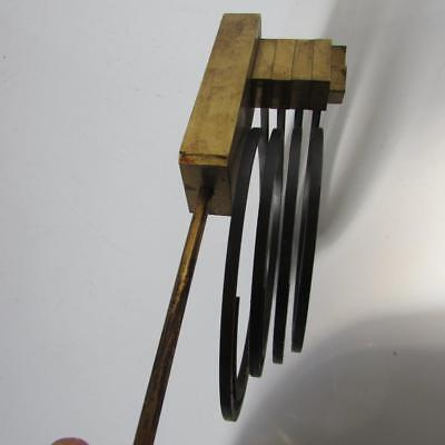 CHIMING MUSICAL CLOCK GONGS 4 spiral gongs on large stand