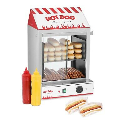 Hot Dog Steamer Professional Hotdog Machine Maker 2000 W Bun Warmers Funfood