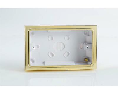 Polished Chrome 2 Gang Surface Mounted Pattress Box For Double Socket YBDC/B