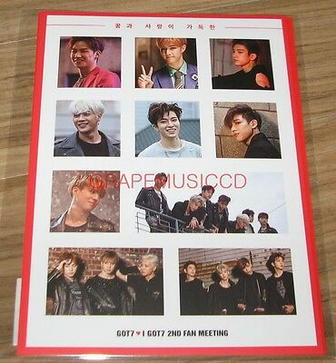 Got7 Got 7 Amazing Got7 World 2Nd Fan Meeting Official Goods Sticker Set New