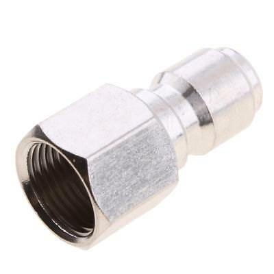"""Baoblaze 3/8"""" Quick Connect Adapter to 15mm Connector Pressure Washer Silver"""