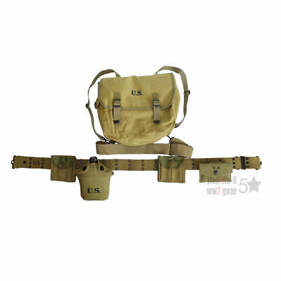 Ww2 Us Army Soldier Carbine Magazine Pouch M36 Haversack Canteen M1 First Aid