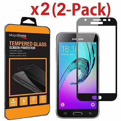 Full Cover Tempered Glass Screen Protector For Samsung Galaxy J3 Emerge/Luna Pro