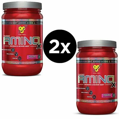 2X BSN Amino X BCAA Powder Muscle Recovery Endurance 435g Short Date JUNE 2018