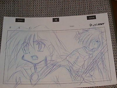 Slayers Revolution Production Anime Cel Sketch Lot of 3- Zelgadis & Amelia- RARE