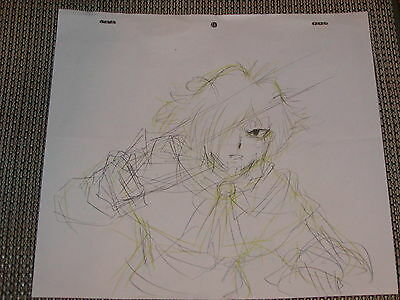 Slayers Revolution Production Anime Cel Sketch (Drawing) - Zelgadis - RARE
