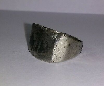 English Medieval Silver Ring 12Th-14Th Century