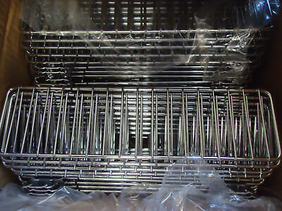 "Case of 40 LOZIER STORE FIXTURE FSD313 CHROME 3""X13"" WIRE BIN DIVIDER"