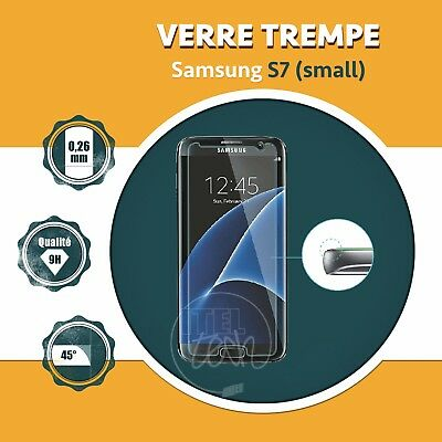 LOT X1 À X10 ViTRE FILM PROTECTION ÉCRAN EN VERRE TREMPÉ SAMSUNG GALAXY S7 SMALL