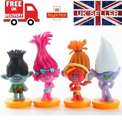 Trolls Cake Topper Figure Decoration Birthday Toy Set Kids POPPY BRANCH GUY SUKI