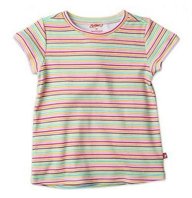 Zutano Screen Fitted Tee, Rainbow Candy Stripe, 3T