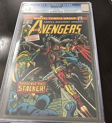 Avengers 124 CGC 9.2 White Pages