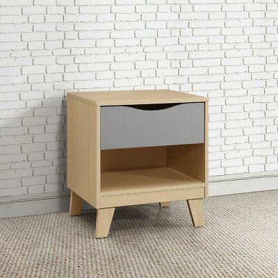 Kingston Modern 1 Drawer Bedside Table with 2 Colour Options 53cm x 49cm x 39cm