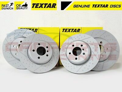 Fits BMW 3 Series E46 330d Textar Coated High-Carbon Front Vented Brake Discs