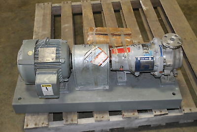 """Klaus Union Centrifugal Pump Stainless Steel 316 SS, 1"""" x1 1-2"""", 3 Hp, Model 010"""