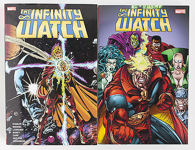 The Infinity Watch Vol. 1 & 2 Marvel Graphic Novel Comic Book Lot