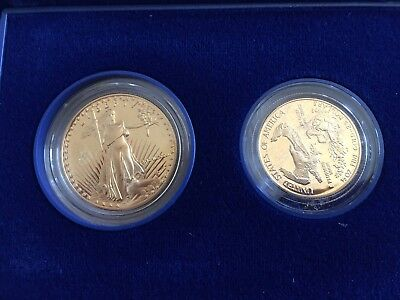 1987 One oz, $50 gold piece and 1987 one-half oz $25 gold coin