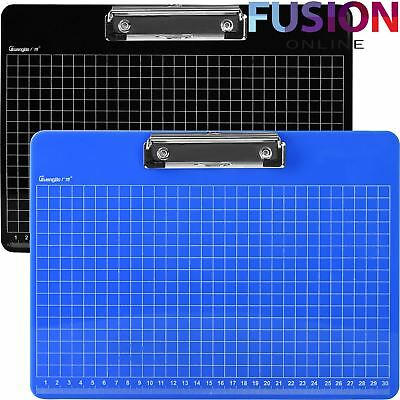A4 Clipboard Document Holder With Hanging Hole Ruler Grid Clip Board Office Work