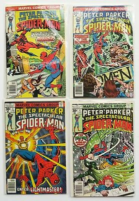 Peter Parker Spectacular Spider-Man Marvel Comics Comic Book Lot of 4 1976