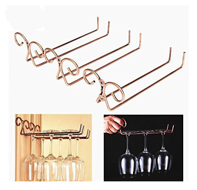Single Row Side Stand Wine Glass Wire Hanger Rack Stemware Bar Cup Glass Holder