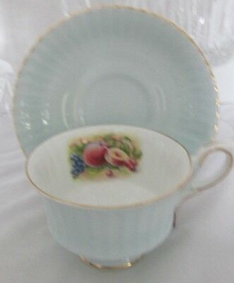 Royal Standard Bone China England Fruit Mint Green Cup & Saucer Set