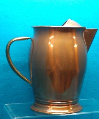"COPPER Moscow Mule Pitcher Vtg  Made in Portugal  8"" Tall"