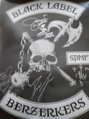 Zack Wylde Black Label Society Autgraphed Tour Poster