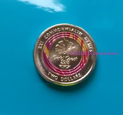 2018 $2 Coin Commonwealth Games Week 1 Red 2018 Two Dollar Coloured Coin