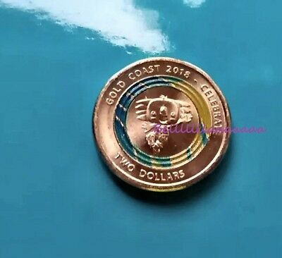 2018 $2 Coin Commonwealth Games Week 2 Blue 2018 Two Dollar Coloured Coin