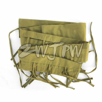 Ww2 Chinese Military Kmt Army Soldier Ammo Pouch Bag Cotton Chartreuse Color