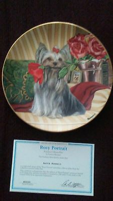 "Danbury Mint Yorkie pals ""Rosy Portrait"" collectors plate"