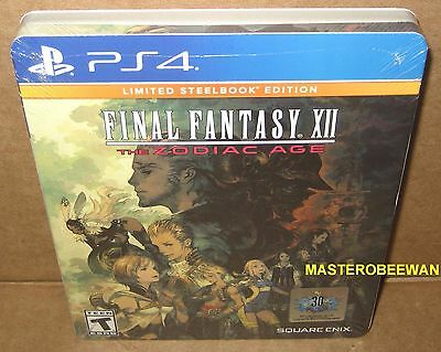 Final Fantasy XII: The Zodiac Age Limited Steelbook Edition New Sealed PS4
