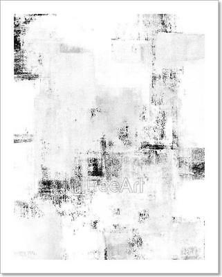 Black And White Abstract Art Art Print Home Decor Wall Art Poster - D