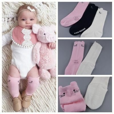 Cotton Kids Baby Socks Leg Warmers Knee High Tights Toddlers Stocking