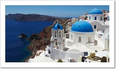 Greece, Santorini Views Art Print Home Decor Wall Art Poster - C