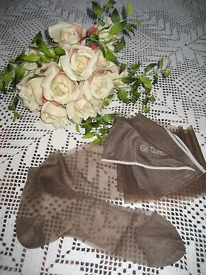 Vintage New Seamless Nylon Go Taupe  Size 10 1/2 Stockings 1 Pair In Lot
