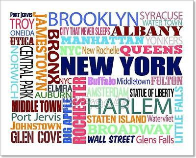 Collage With Various Words With New Art Print Home Decor Wall Art Poster - C