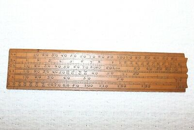 ca 1800s 6 Inch Boxwood Gunter Ruler  Sector/ Scale / Navigation / Maritime