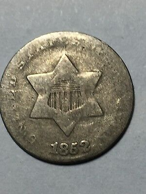 1852 3 cent silver in good condition