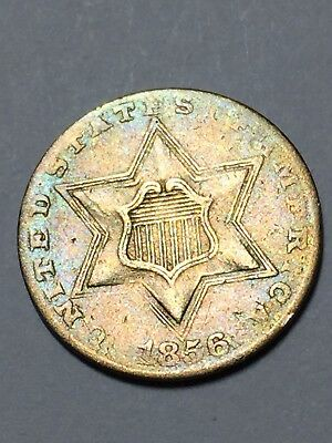 1856 3 cent silver in good condition
