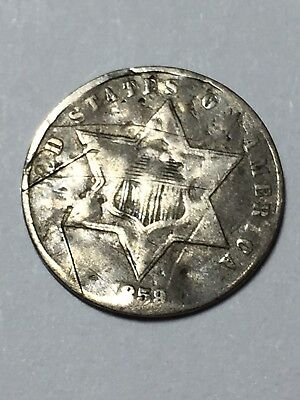 1859 3 cent silver in AG condition